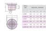 Донный слив под плитку IML (A008) test