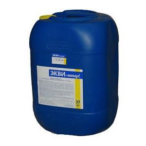 ЭКВИ-минус жидкий (рН-минус) 30л (37кг)