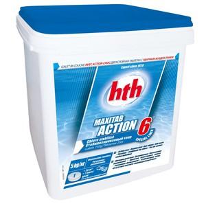 HTH Двухслойная таблетка – быстрый и медленный хлор (6 в 1)  5 кг (K801795H1)
