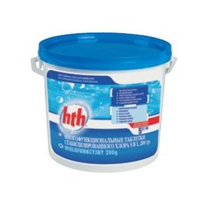 Многофункциональные таблетки стабилизированного  хлора 5 в 1, 200 гр.  25 кг