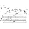 Лежак воздушного массажа двухполосный нерж. сталь, плитка (АС 04.08) test
