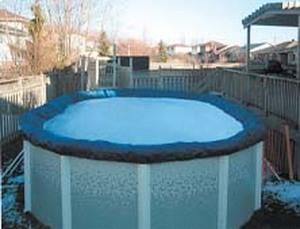 Покрывало брезентовое для бассейна Atlantic pool 7.3х3.7 (овал)