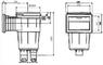 Скиммер под плитку IML с квадратной крышкой (A059) купить в Самаре