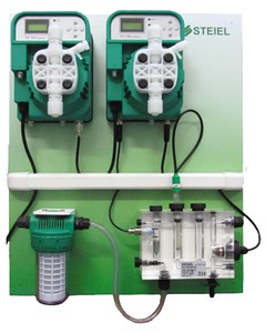 Станция дозирования и контроля  pH/Сl Steiel (PNL EF162 pH + EF163 CL) 10 л/ч
